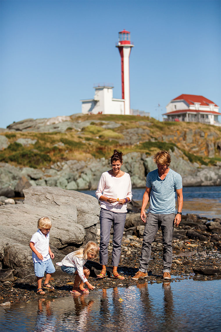 Family at Cape Forchu